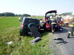 Két személygépkocsi ütközött Zalaegerszeg határában