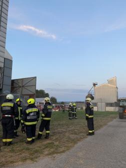 Tűzoltók a helyszínen