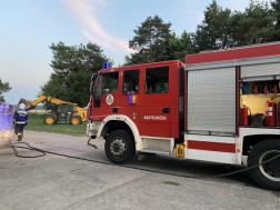 Tűzoltóautó nagykanizsai